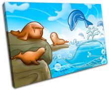 Dolphin Walrus Seal For Kids Room - 13-2132(00B)-SG32-LO